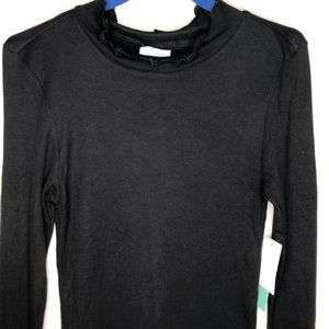 ABOUND black base layer stretch long sleeve mock S
